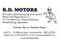 Motor Mechanic/Technician required on permanent basis