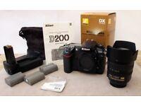 Nikon Digital D200 DSLR only 14500 frames with Nikon18-70 mm AF-S 3.5-4.5 G ED Nikkor Lens