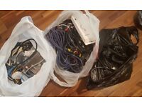 Bulk Job Lot of over 100 Mixed Cables Full List in Desc(USB/Kettle Plugs/Data/PCIe/Audio/Visual etc)