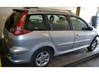 2005 - PEUGEOT - 206 ESTATE SW - DIESEL- BREAKING
