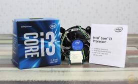 I3 6300 CPU 3.8 GHz dual core (4 threads) with box and cooler. Excellent condition
