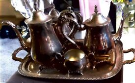 ONEIDA SILVER PLATED TEA & COFFEE SET (6 PIECES)