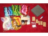 Felting Equipment and wool in all colours