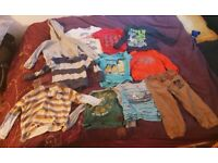 Boys clothes bundle 2-3 years Hoodies/tops/trousers- mixed brands including Disney and Zara
