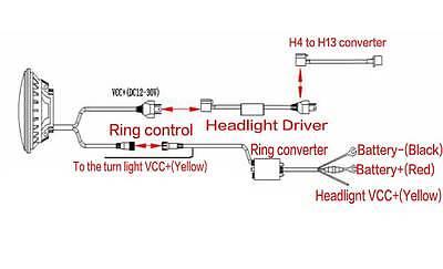 7inch LED H6024 Round DRL FOG Headlights H4 H13 Hi/Lo Beam For ... on h6054 wiring diagram, h4666 wiring diagram, h4656 wiring diagram,