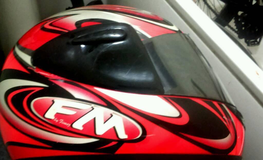 Two motorbike helmets