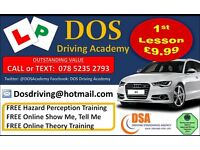 QUALITY DRIVING LESSONS. 1ST LESSON £9.99