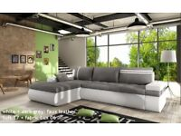 BARGAIN! Corner Sofa Bed oslo with storage container sleep function NEW