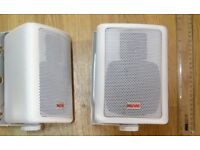 PAIR NOVO White wall/shelf mounting SPEAKERS