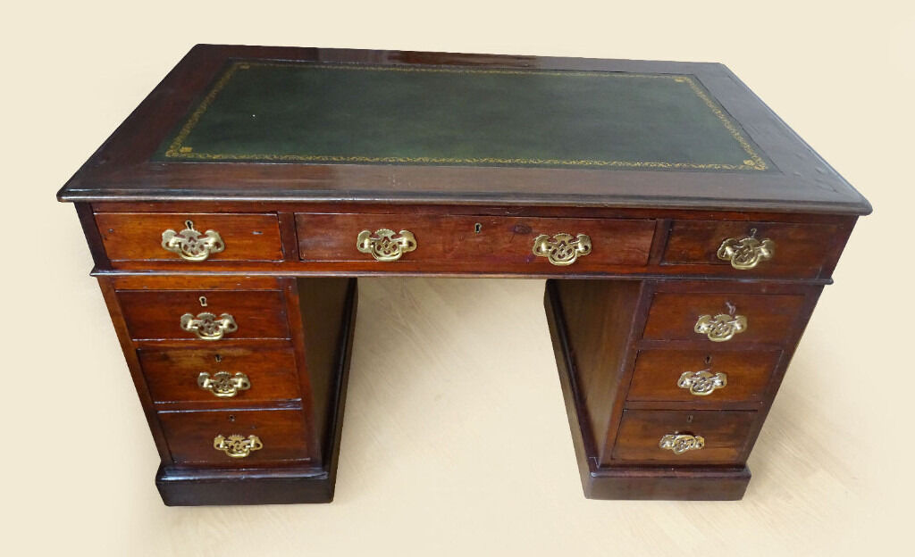Faux Leather Top Writing Desk Hostgarcia