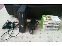 Xbox 360 Slim 250gb + 10 games