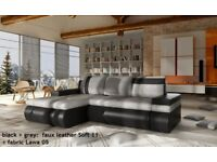 SPECIAL OFFER! Corner Sofa Bed oslo mini with storage container sleep function NEW