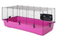 Pink savic indoor rabbit/Guinea pig hutch £10