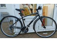 Specialized Sirrus Hybrid Commuter Bike Gloss Black Immaculate Condition 5ft3-5ft7