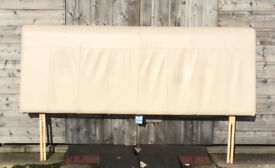 King Size Leather headbord from Nerxt, Cream, Great Condition.