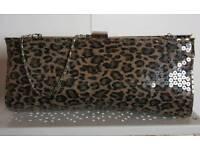 Leopard Print Clutch Bag