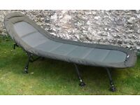 for sale advanta fishing bed chair as new. now comes with proper bag that i purchased.