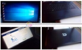 excellent condition multimedial laptop HP Compaq, Windows 10, was £529, cleaned and restored to orig