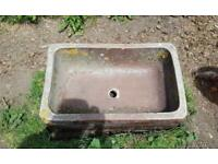 Antique Salt Glazed Farm Feeder Water Trough Stone Garden Planter Earthenware