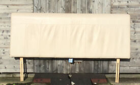 King Size Leather headbord, Cream, Great Condition.
