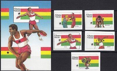 GHANA, 1988 Olympische Sommerspiele 1205/09B, Block 131B **, (18521)