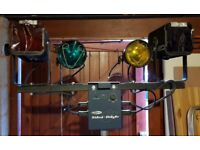 T Bar Light Rig with Chaser Unit x2