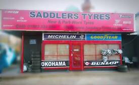 Saddlers Tyres - Brand New Tyres - Part Worn Tyres from. £20