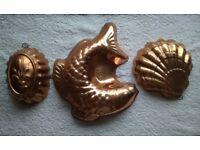 3 Soild copper molds ON SALE!
