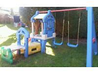 Little tikes children playground swings slide climbing frame