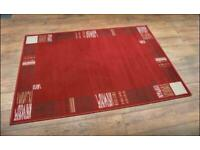 Brand new Mayer carpet red rugs size 170x120cm any of them £22