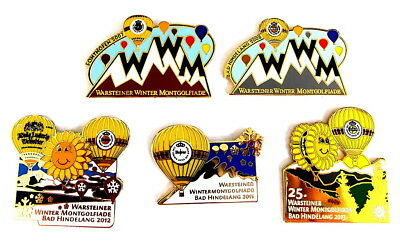 WARSTEINER BALLON Pin / Pins - WINTER MONTGOLFIADE / 5 PINS !!!!!!!! (3285)