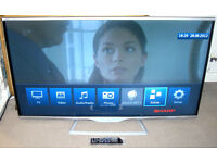 "HUGE Sharp AQUOS 60"" Full HD 1080p 3D Smart TV Freeview HD WiFi 200Hz GREAT Picture"