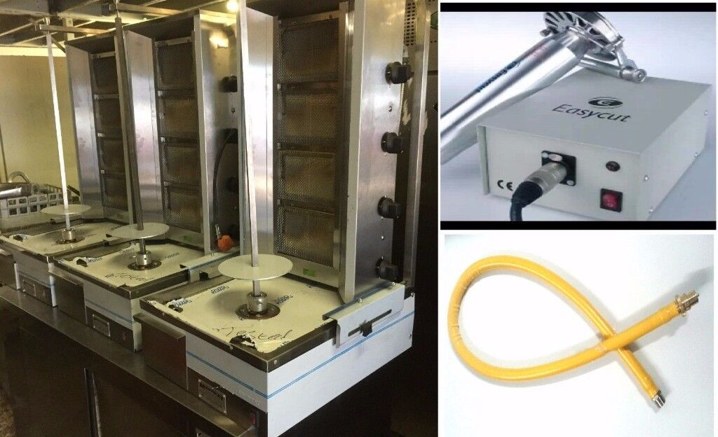 ARCHWAY DONER MACHINE PACKAGE DEAL-EASYCUT AND YELLOW GAS PIPE 1.20CM TWIST&TURN