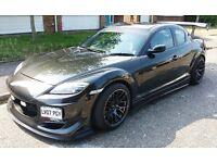 Mazda RX8 2007 Limited KURO Edition 231 Modified Drift Bodykit Carbon Wing FSH 1 Year MOT £6150ovno
