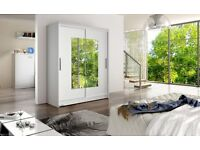 NEW DOUBLE WARDROBES WITH SLIDING DOORS, MIRRORS, STORAGE AND SHELVES(AVAILABLE IN DIFFERENT STYLES)