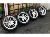 "17"" 4x114.3 pcd DARE MOTORSPORT ALLOYS WHEELS Honda Civic accord type r"