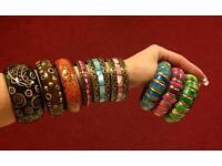 9 various bangles wristbands