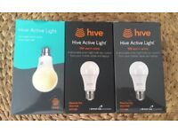 3 x Hive Active Light bulbs