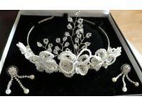 Tiara and earrings
