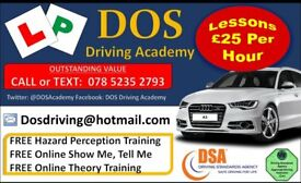 MANUAL QUALITY DRIVING LESSONS. £25 PER HOUR