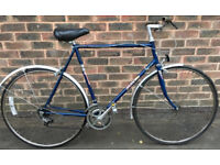 58cm Vintage racer hybrid retro Raleigh Sun Solo road race racing bike with mudguards