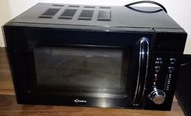 Black Microwave Oven, Good Condition, £10