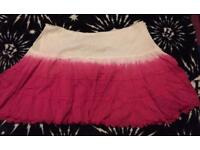 Lovely Lipsy size 10 pink & white skater skirt