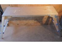 Lightweight folding work platform