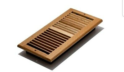 Wood Oak Natural Wall Register 6x14 Ceiling Grill Louvered Air Ventilation Cover Louvered Wall Register