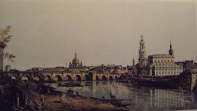 CANALETTO hochw. Lichtdruck NEU Dresden Elbufer von ca.1760 Blatt 116x72 RARITÄT