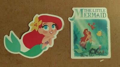 Disney Stickers - Lot of 2 - The Little Mermaid Ariel Little Mermaid Scrapbook Stickers