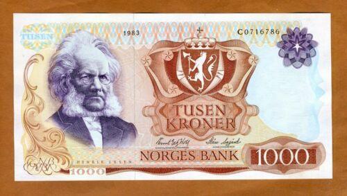 Norway, 1000 Kroner, 1983, P-40b, C-Prefix, Gem UNC