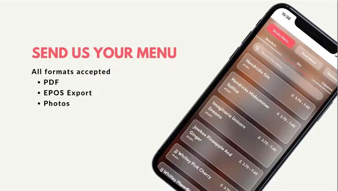 Pour Table Ordering  and Delivery Service AP - Start taking Orders in 1 day