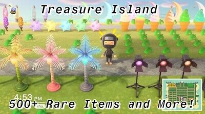 Animal Crossing New Horizons TREASURE ISLAND! 500+ ITEMS LOOT UP and CATALOG!